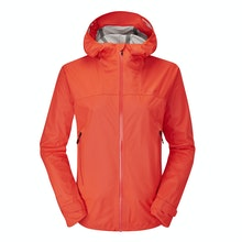 A women's rain jacket that's ultra-waterproof while being breathable, lightweight and stretchy.