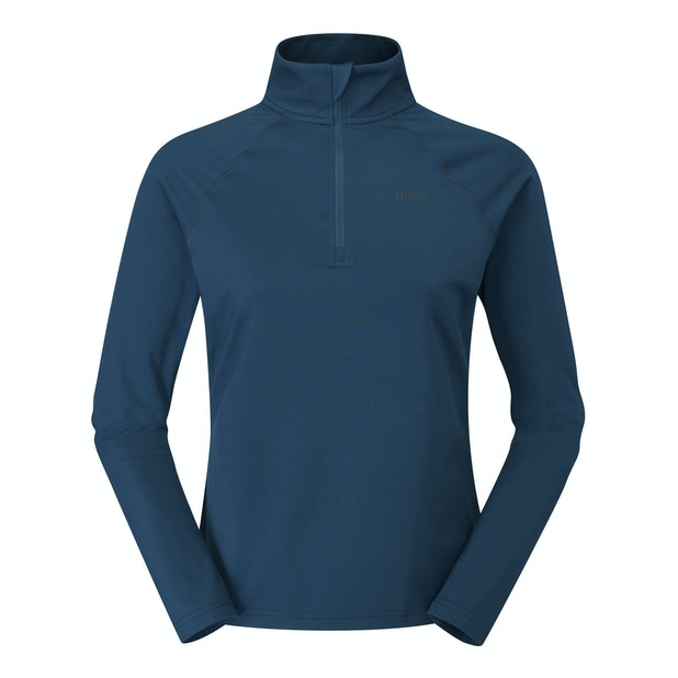 Phase Zip Neck Top  - Lightweight, brushed back top for cool conditions.