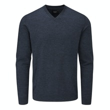 Technical, knitted V Neck jumper for year-round warmth.