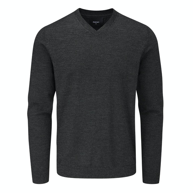 Merino Fusion V Neck - Technical, knitted V Neck jumper for year-round warmth.