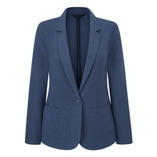 Cool, lightweight and crease-resistant linen blend jacket.