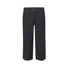 Relaxed, wide leg cropped trousers.