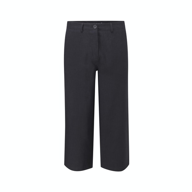Malay Cropped Trousers - Relaxed, wide leg cropped trousers.