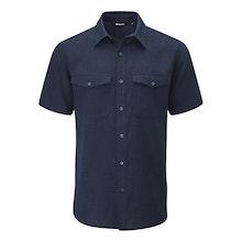Technical, cool and comfortable linen-blend shirt.