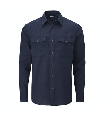 Technical, cool and comfortable linen-blend shirt.