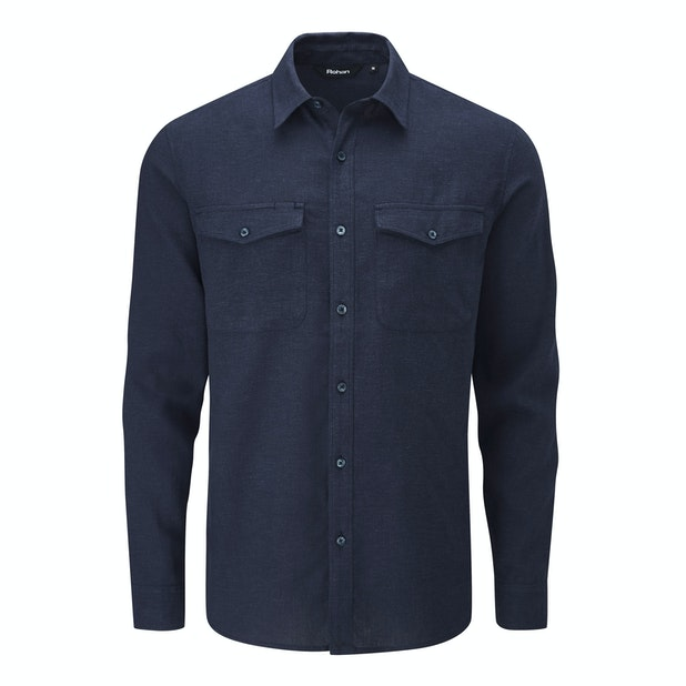 Maroc Shirt  - Technical, cool and comfortable linen-blend shirt.