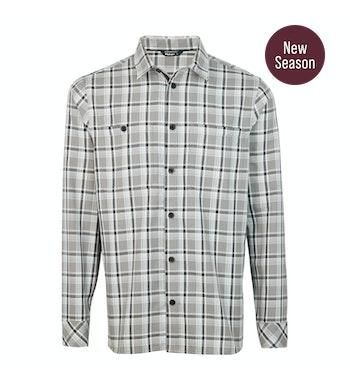 Kielder Shirt LS Men's, Anthracite Grey Check