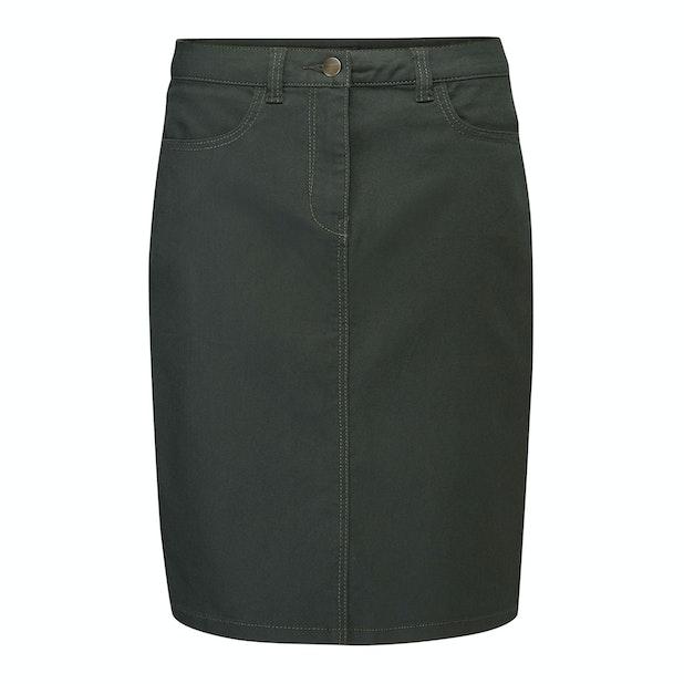 Venture Skirt  - Stretchy, flattering, technical denim skirt.