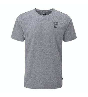 High-wicking, antimicrobial branded casual T or base layer.