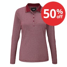 Soft, stretchy long-sleeved polo for everyday wear.