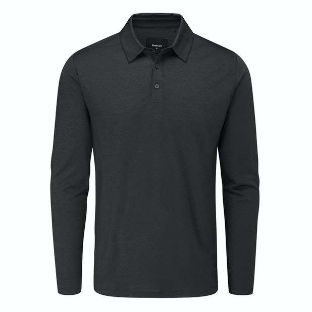 Merino Cool Polo - Lightweight and comfortable classic long sleeved polo shirt with engineered details and fit.