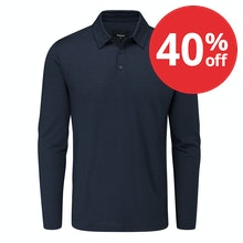 Lightweight and comfortable classic long sleeved polo shirt with engineered details and fit.