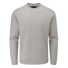 Casual sweater using a performance and technical fibre.