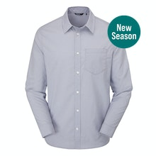 Soft and stretchy technical shirt with classic Oxford appearance.