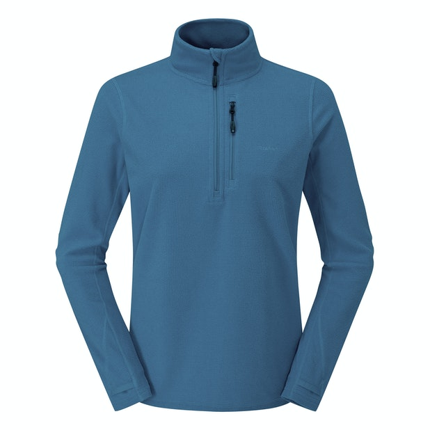 Stretch Microgrid Zip Neck Top - Reinvented multi-purpose technical fleece with incredible stretch