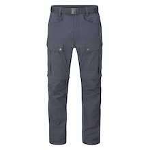 Multi pocketed and insect repellent expedition trousers that convert into shorts.