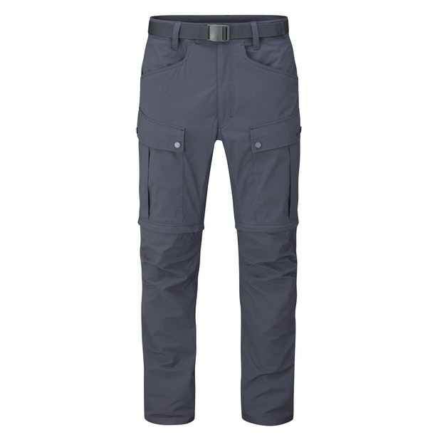 Pioneer Convertible Trousers Men's - Multi pocketed and insect repellent expedition trousers that convert into shorts.