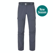 Multi pocketed and insect repellent expedition trousers that convert into capris.