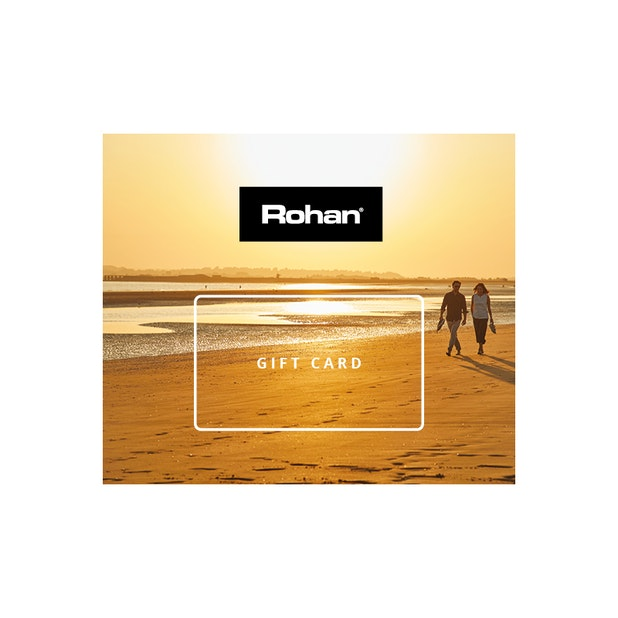 The Rohan E-Gift Card - No fuss. No risk. Redeemable in store, online and mail order.
