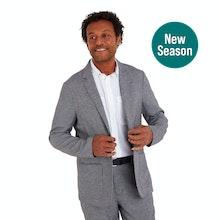 On Body - Technical, smart-casual linen jacket.