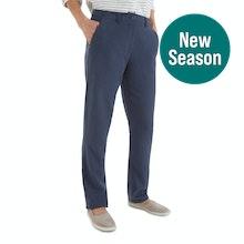 On Body - Easycare, linen-blend trousers.