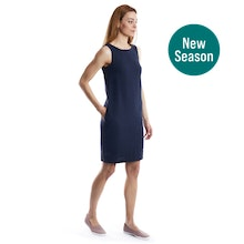 On Body - Linen-blend shift dress perfect for hot weather.
