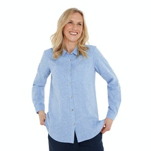 On Body - Relaxed fit linen-blend shirt.