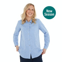 On Body - Relaxed fit linen-blend shirt.