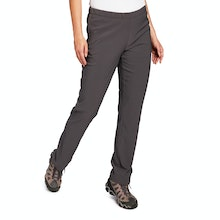 On Body - Water-repellent walking trousers with elasticated waist.