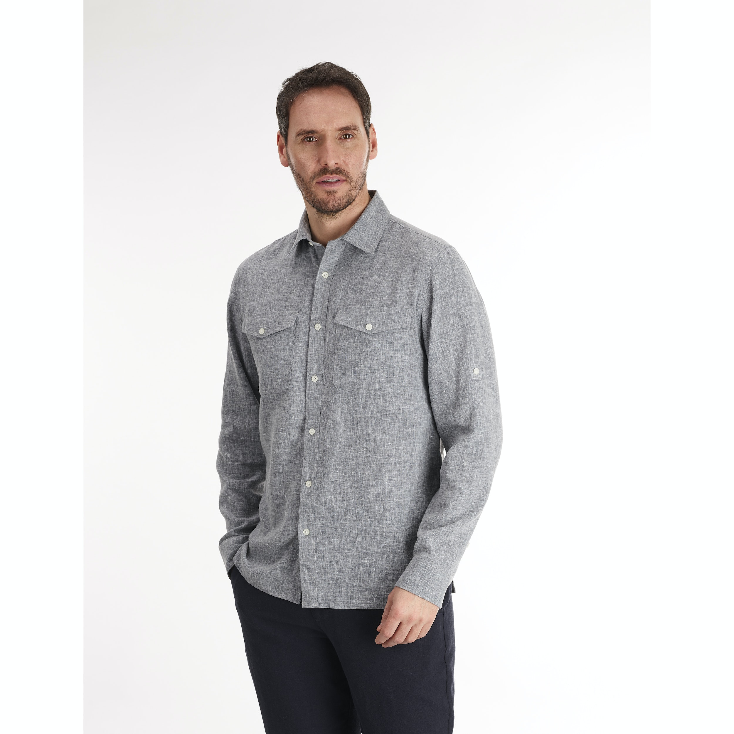828939db Men's Maroc Shirt - Crease resistant, linen-blend shirt.