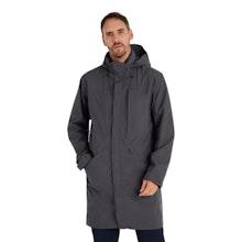 On Body - Longer length waterproof jacket.