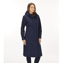 On Body - Waterproof, highly breathable calf-length mac.
