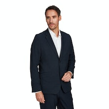 On Body - Ultra-crease resistant, technical travel suit jacket.