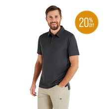 On Body - High-wicking performance polo.