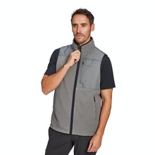 On Body - High-pile fleece vest with vintage styling.