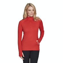 On Body - Super-soft brushed back, technical mid-layer top.