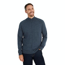 On Body - Versatile zip jacket made with Merino Fusion yarn.