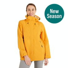 On Body - A women's rain jacket that's ultra-waterproof with added breathability.