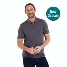 On Body - Lightweight, soft, durable and naturally antimicrobial polo.
