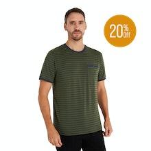 On Body - Technical, cotton-feel short sleeve T-shirt.