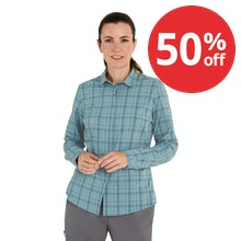 On Body - Soft, stretchy long-sleeved shirt for trekking and hillwalking.