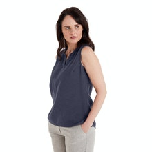 On Body - Smart linen blend top with easycare functionality.