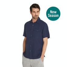On Body - Technical, cool and comfortable linen-blend shirt.