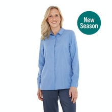On Body - Soft, button up shirt with Insect Shield protection.