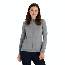 On Body - Versatile zip jacket made with Merino Fusion yarn.
