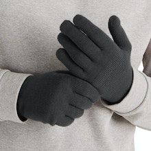 On Body - Unisex merino-blend gloves for active outdoor use.