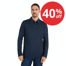 On Body - Lightweight and comfortable classic long sleeved polo shirt with engineered details and fit.