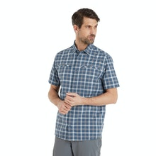 On Body - Durable, lightweight, cotton-feel short-sleeved shirt.