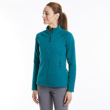 On Body - Comfortable, stretchy mid-layer.